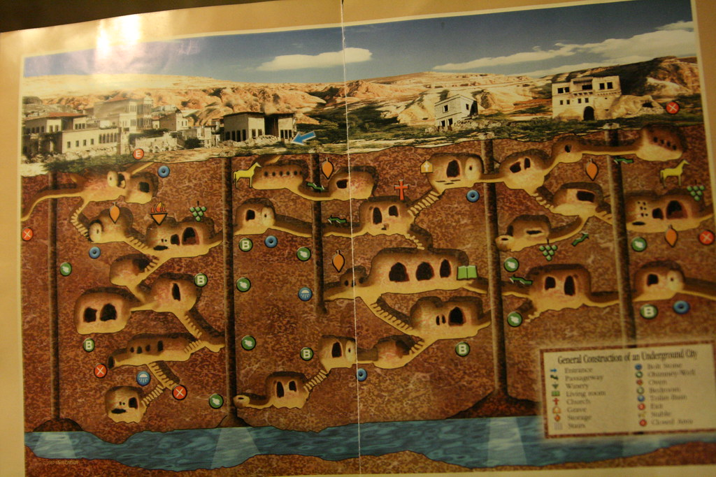 Kaymakli Underground City Map  Kaymakli Underground City Ma…  Flickr