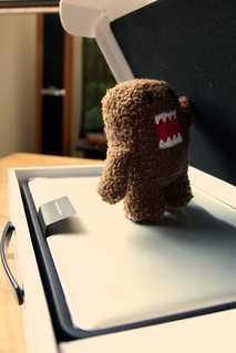 Domo unwrapping new MBP | by _chris_st