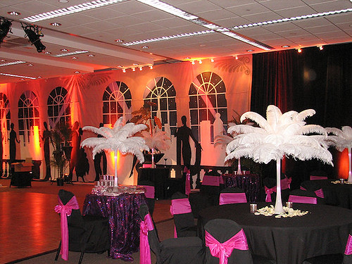 A jazz theme wedding reception the was