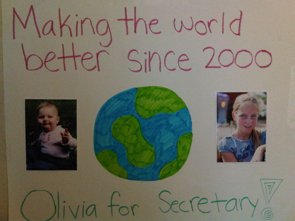 Olivia is running for Student Council Secretary. These are ...