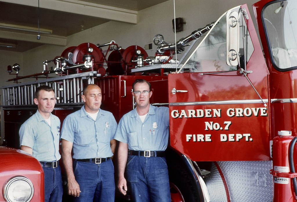Garden Grove Fire 1964 Firemen Mugging For The Camera I Flickr