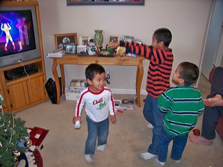The boys play Just Dance on the Wii | by Castles, Capes & Clones