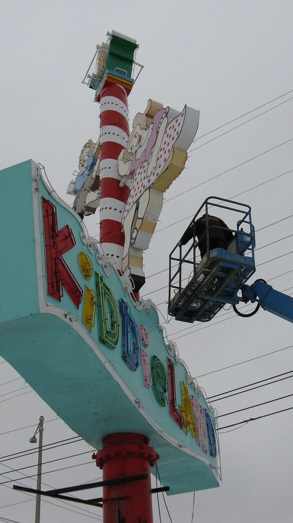 Kiddieland Amusement Park. Melrose Park Illinois. Thursday ...