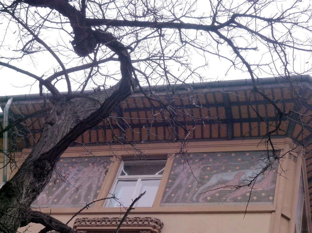 Art nouveau palace budapest murals ter zv ros bajza for Art nouveau mural