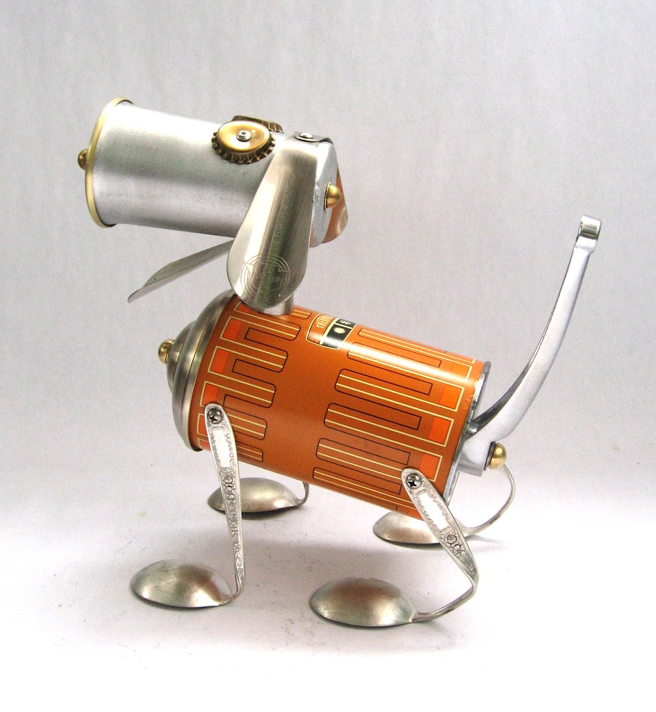 Thermond - Found Object Robot Dog Assemblage Sculpture ...
