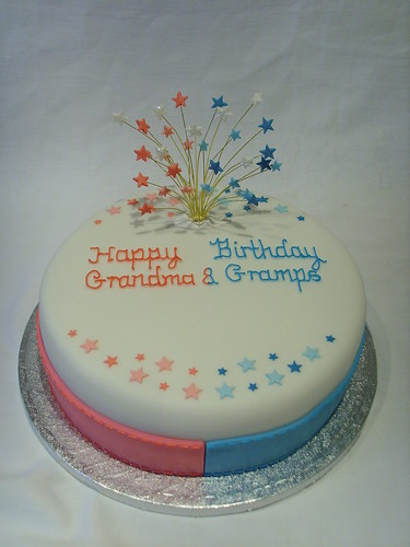 Joint Birthday Cake Images : His and Hers Birthday Cake Ordered for a joint birthday ...