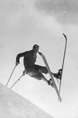 Ken Syverson on skis at Paradise Park, Mount Rainier | by UW Digital Collections