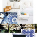 Blue and White Tropical Master Bedroom Decor Inspiration -middle