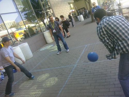 At #sxsw, @foursquare's @dens playing four square. | by jenny8lee