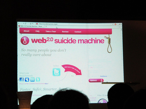 Suicide 2.0 at dorkbot | by Rain Rabbit