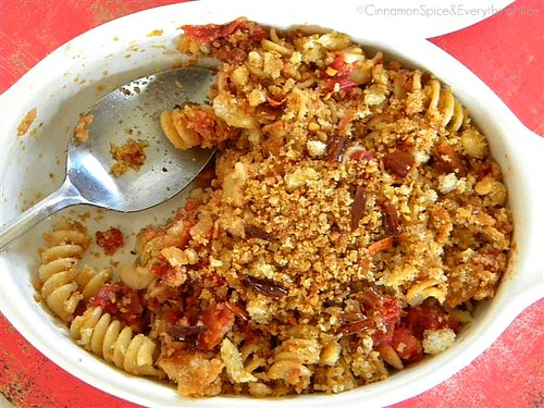 Pasta w/ Fried Chile Peppers & Bread Crumbs | by CinnamonKitchn