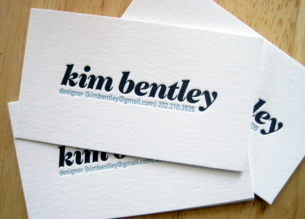 new business cards | I have 300, please have one | Kim Bentley | Flickr