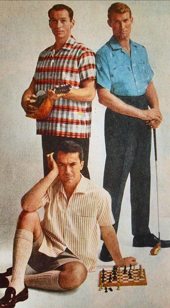 1960s Early 60s MENSWEAR Leisure Sportswear Casual Fashion ...