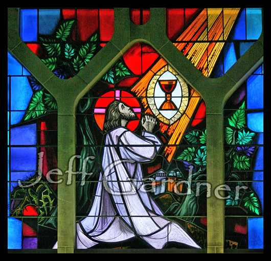 Agony in the Garden | Window in St. Vincent Pallotti Catholi… | Flickr