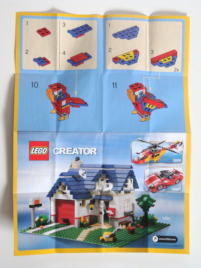 Lego Creator Parrot 30021 Instructions Rear Page 2 And A Flickr