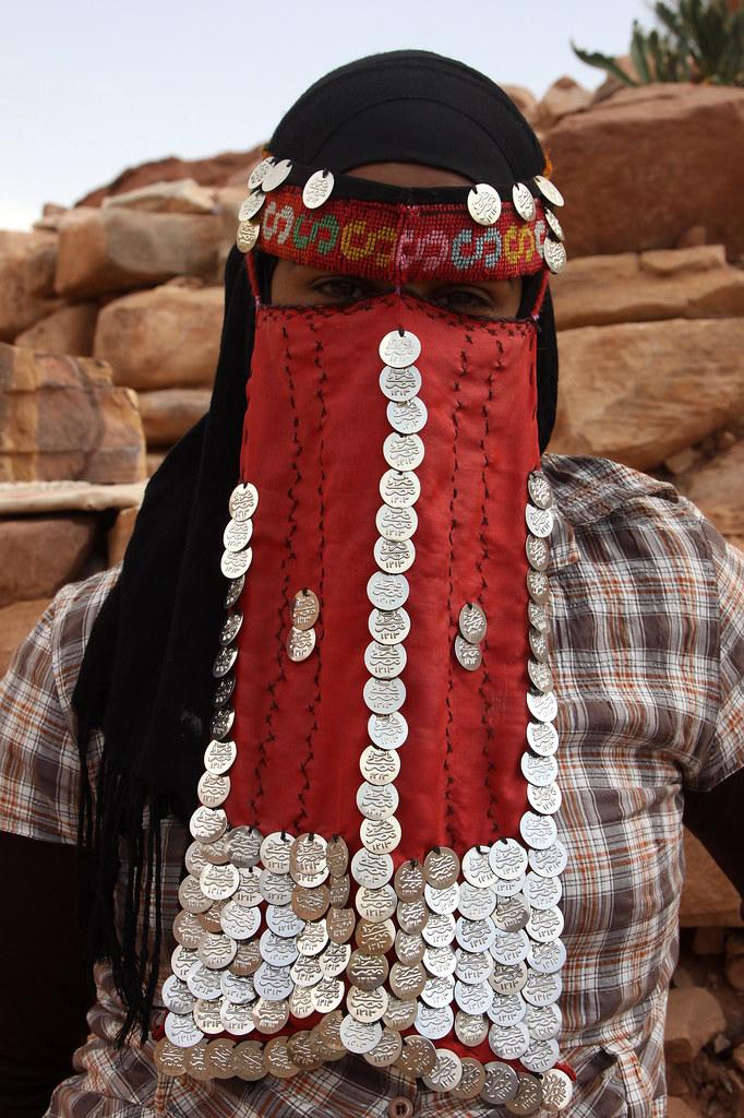 Jordan Bedouin Woman Seller Of Souvenirs In Petra Her