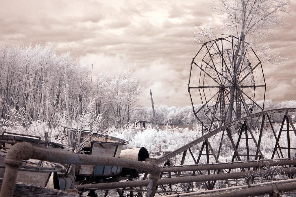 Chippewa Lake Amusement Park In Infrared 4 Brian