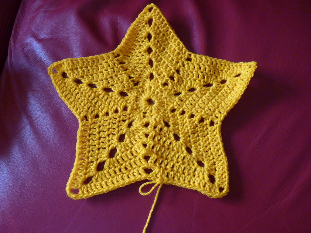 Crochet Star Pattern I Finished My Scarf Or More Honestl Flickr