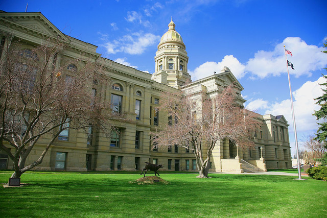 Wyoming State Capitol Building | While on my trip a couple w