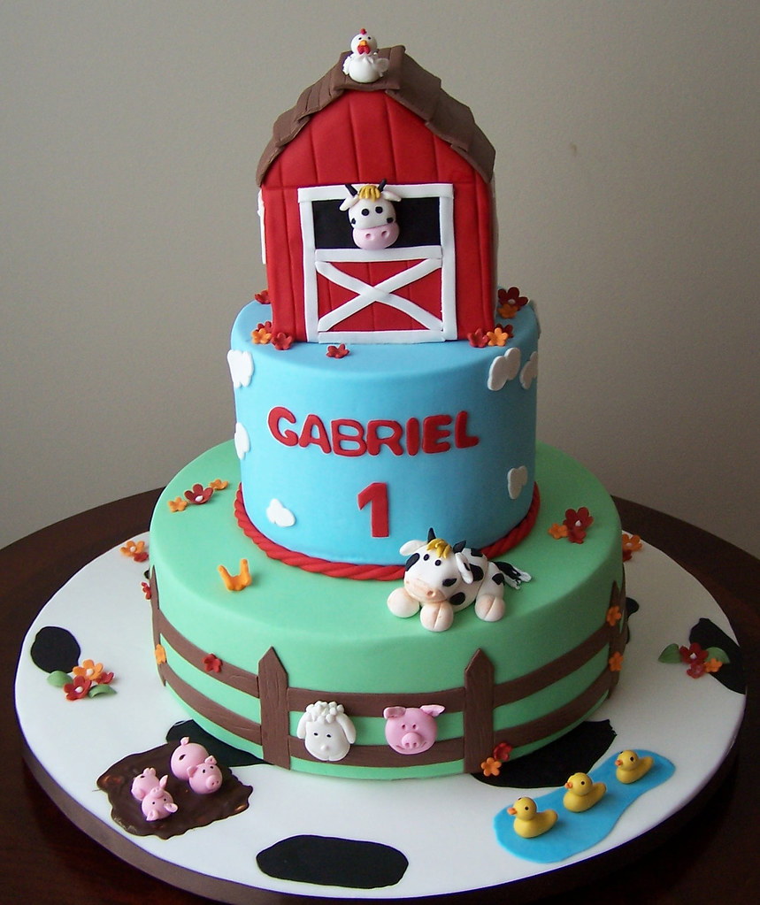 Barn Cake I Made This Cake A Few Weeks Ago For Gabriel S