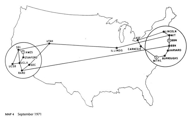 Arpanet 1971, CC-By-NC Amber Case