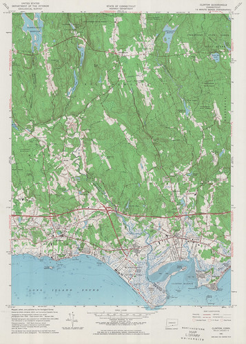 Clinton Quadrangle 1961 - USGS Topographic 1:24,000 | by uconnlibrarymagic