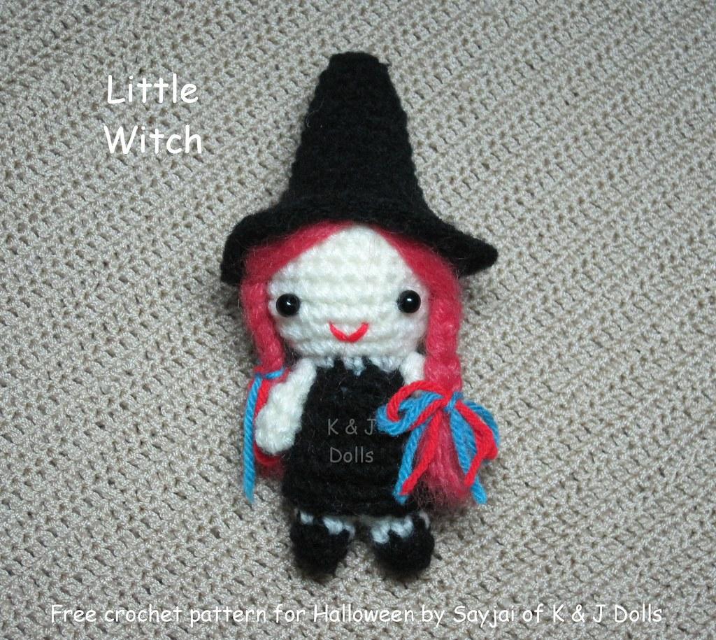Free Witch Hat Crochet Amigurumi Pattern - Little Bear Crochets | 915x1024