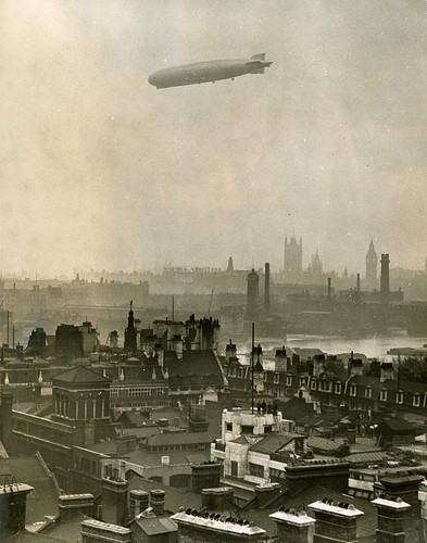 Zeppelin over the Thames | by The National Archives UK