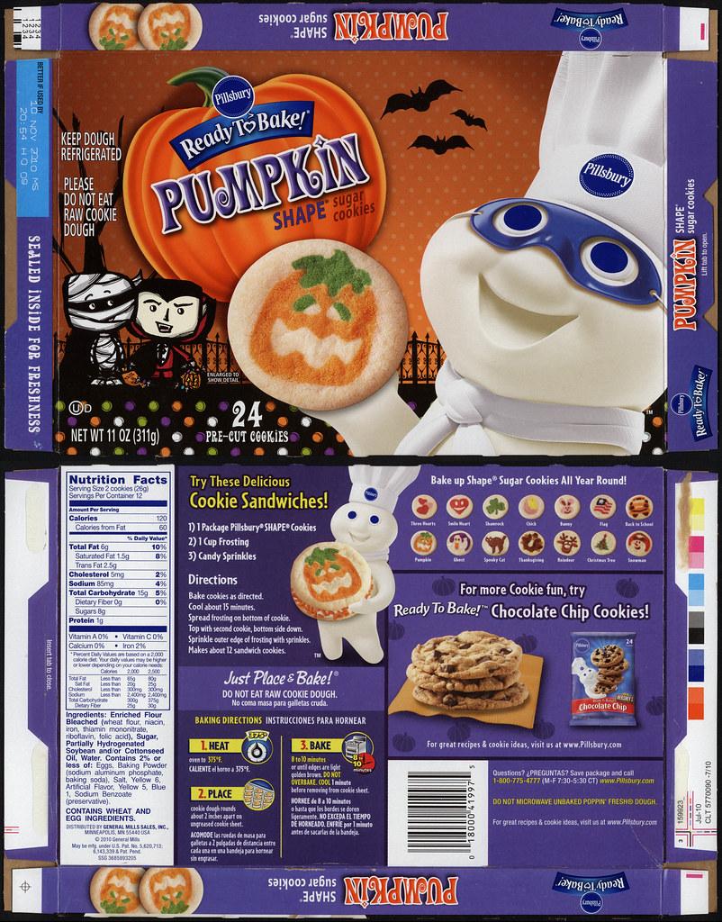 pillsbury ready to bake target exclusive halloween edition pumpkin shape sugar cookies box