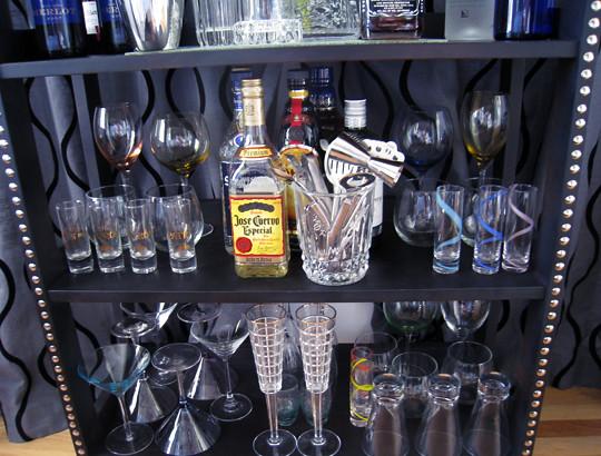 home mini bar diy tutorial tacks studs shelves with studs flickr. Black Bedroom Furniture Sets. Home Design Ideas