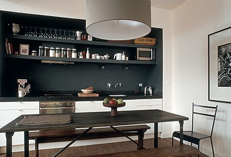 ... white kitchen, black wall 2 | by Anna @ D16