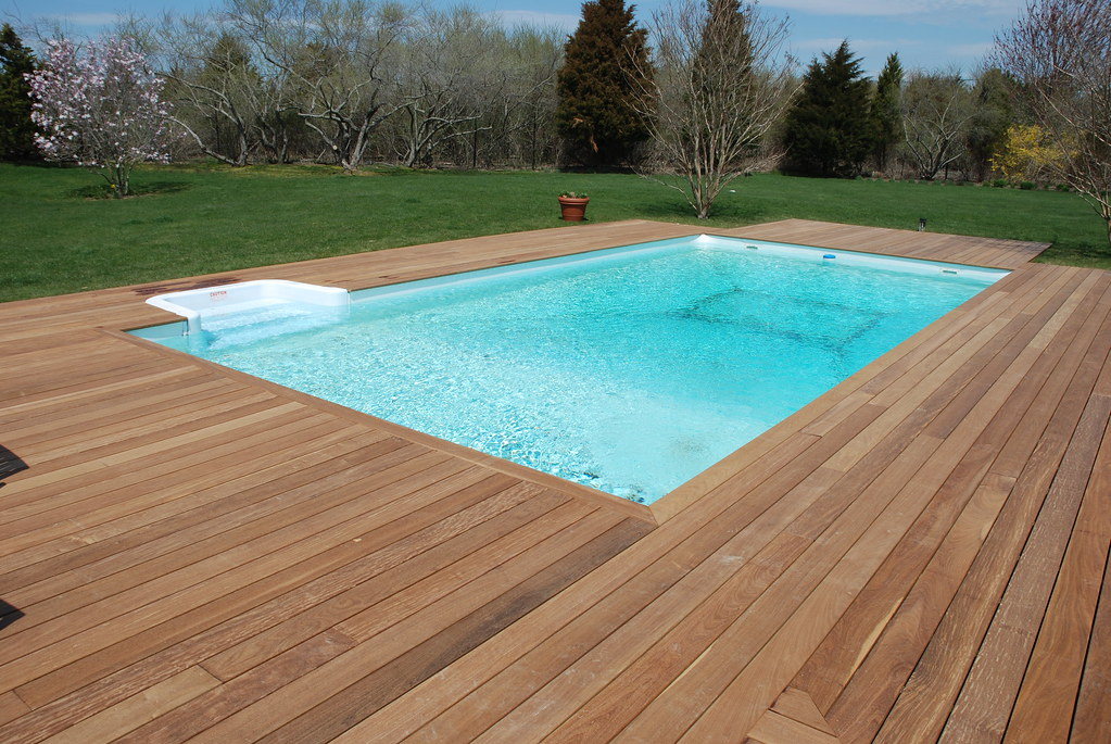 ipe pool deck beautiful ipe wood decking around in