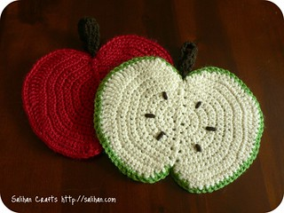 Crochet Apple Dishcloths | by :Salihan