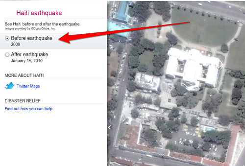 bing maps before haiti earthquake image by search engine land