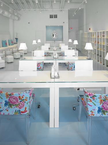 Polished beauty lounge habachy designs interior design flickr - Bar salon design ...