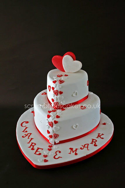 how to make a heart cake with two round pans