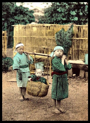 HAULING  A BASKETFULL OF TROUBLE -- Trying to Have Fun While Babysittig in OLD JAPAN | by Okinawa Soba (Rob)