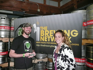 The Brewing Network's Justin Crossley interviewing Meg Gill from Speakeasy | by jbrookston