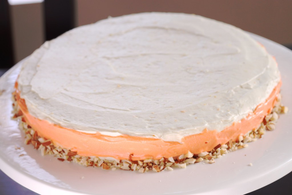 Cake With Almonds On Top