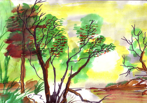 latest water colour drawing 3 suresh flickr