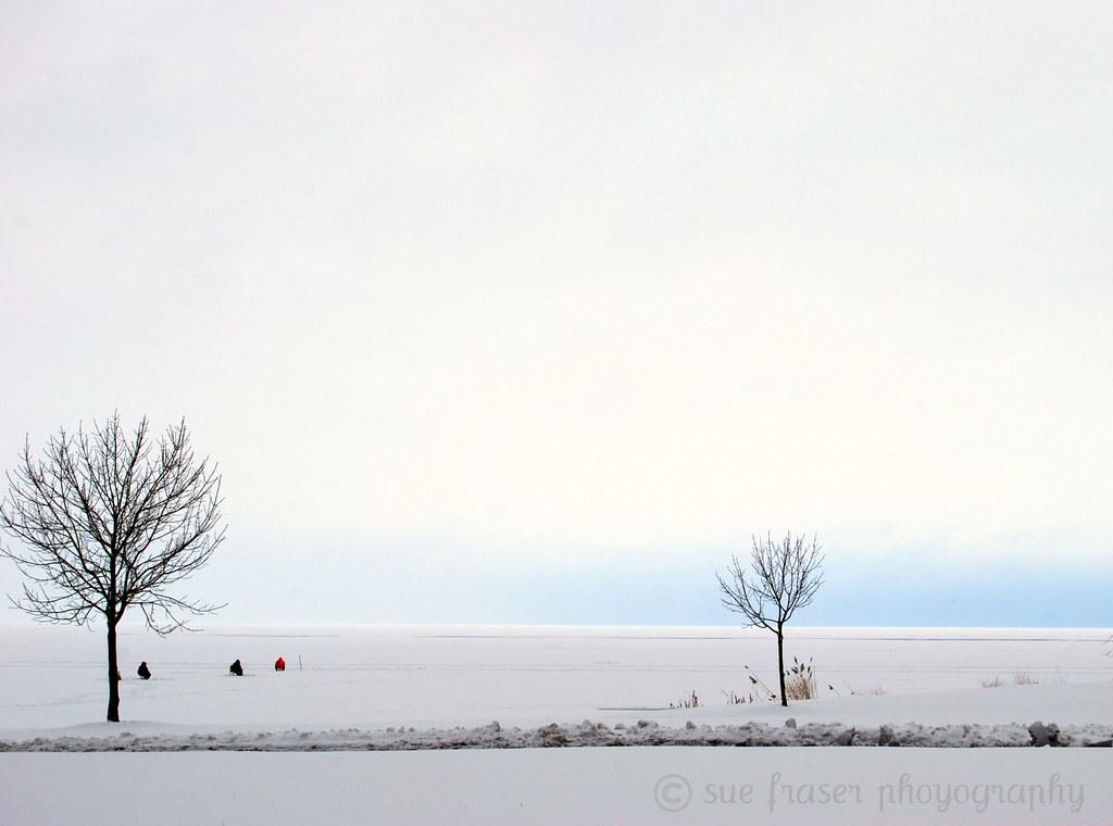 Ice fishing trio lake st clair metro beach harrison for Ice fishing lake st clair