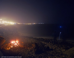 Fishing by Firelight - Roker Beach, Sunderland. | by martintype