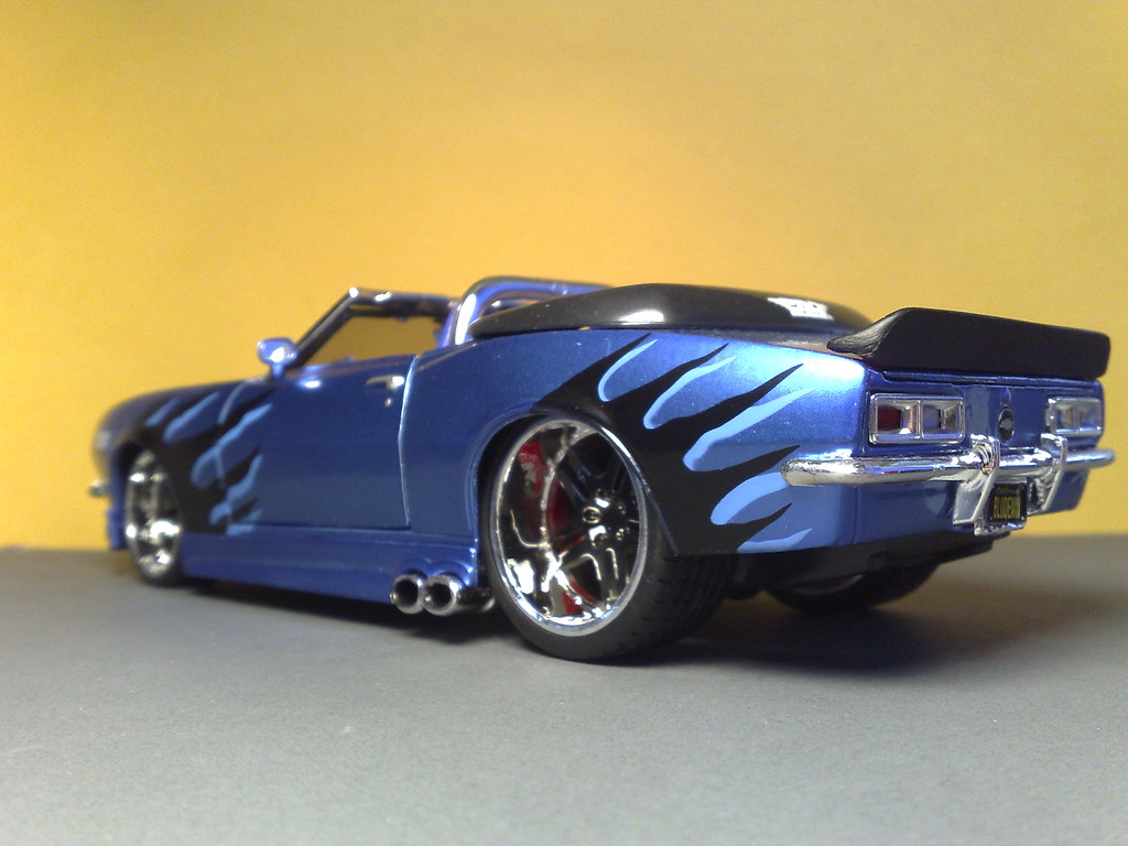 68 Chevrolet Camaro Ss Custom Blue Demon Diecast