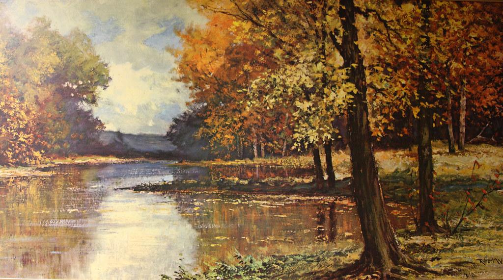 Woods Path Painting Landscape