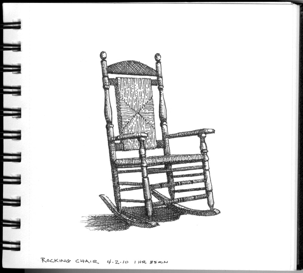 Rocking Chair Wooden Rocker On My In Laws Front Porch