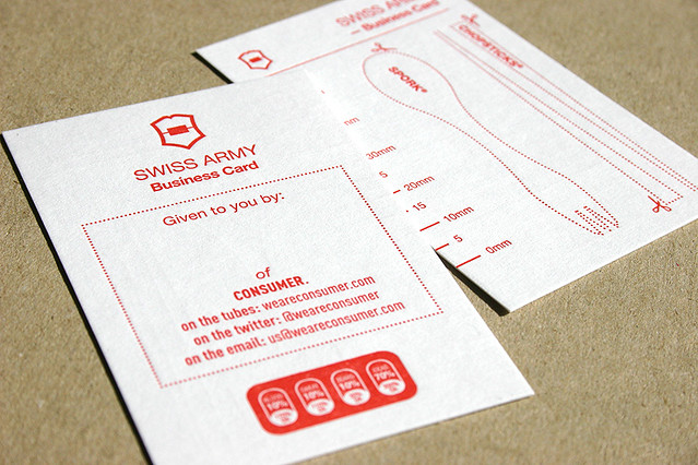 Swiss Army Business Card | A print inquiry from Consumer ...