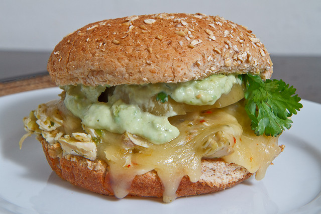Salsa Verde Pulled Chicken Sandwich | Recipe on Closet ...