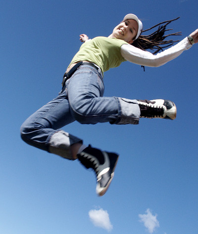 image gallery someone jumping