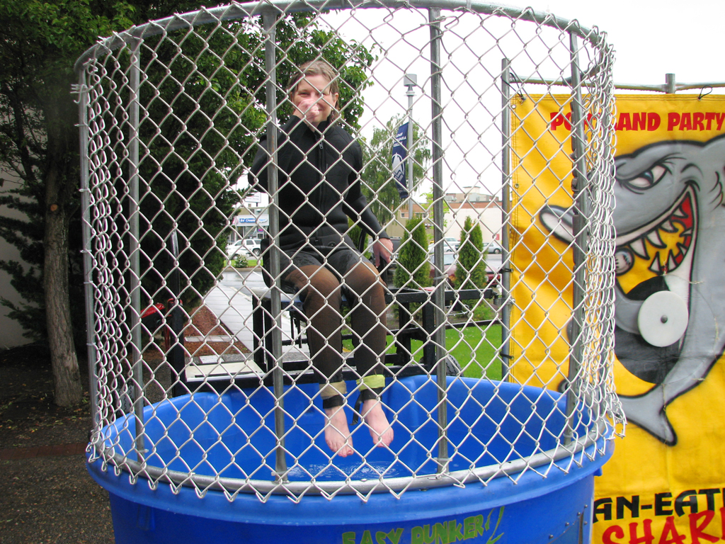 Red Devil Days | Annual dunk tank with instructor waiting ...
