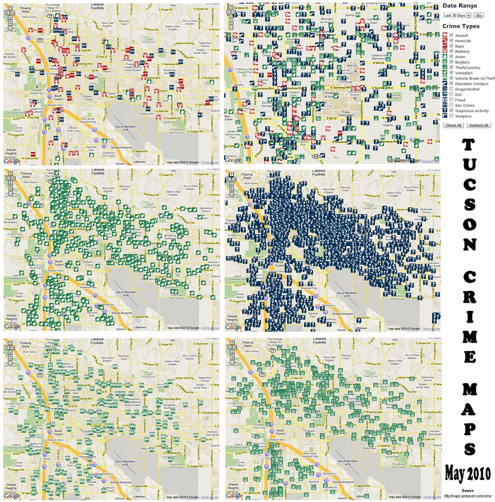Tucson AZ Crime Map, May 2010 | Click here for the interacti… | Flickr
